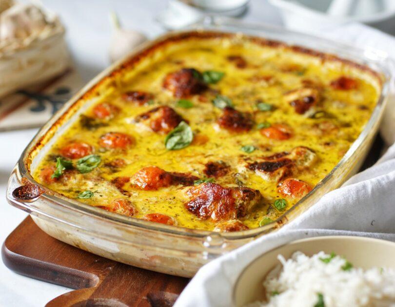 Hühnchen-Mozzarella-Auflauf