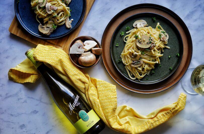 Pilzsoße mit Pasta